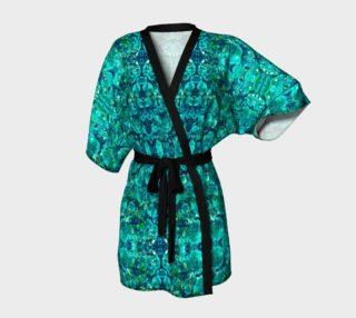 Perfect Turquoise Mosaic Kimono Robe preview