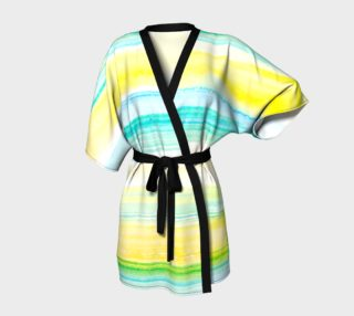 Bright Yellow and Blue Watercolor stripes Design preview