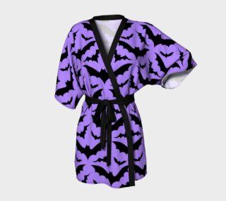 Purple Bats Kimono preview