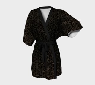 Flower of Life Patter Black & Gold Kimono preview