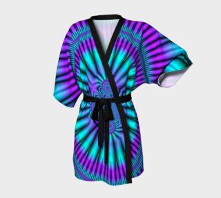 Teal Mind Warp Fractal Kimono preview