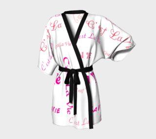 Fuchsia C'est la Vie Kimono preview