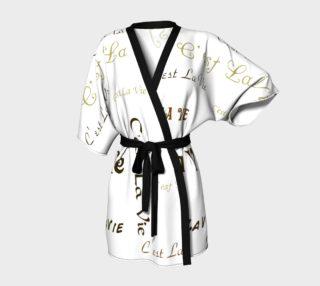 Aperçu de Mocha C'est la Vie Kimono