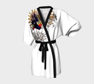 "Kimono Robe ""Make Love Not War, Jesus Greetings"" aperçu"