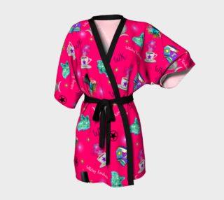 WK #ModernWitchLife Pink Print Kimono Robe preview