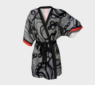 Aperçu de red stripe kimono