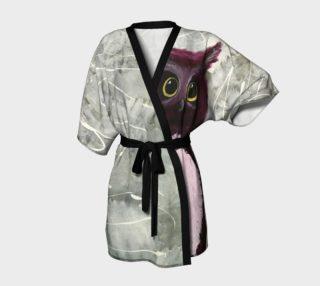 Aperçu de Mulberry Owl Kimono Robe
