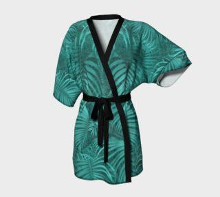 Tropical Hawaiian Pattern Print Kimono Robe preview