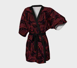 Sharp Tribal Pattern Print Kimono Robe preview
