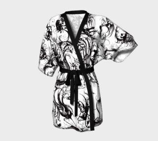 Aperçu de Grotesques W&B - Kimono Robe