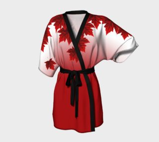 Autumn Maple Leaf Robe Canada Maple Leaf Kimono Robe preview