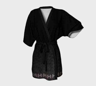 Vampire Wings Border Goth Kimono Robe by Tabz Jones preview