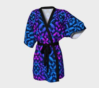 3-D Pattern in Neon Blue, Pink, and Black preview