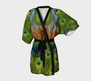 Aperçu de Nicobar-Peacock Fantasy Kimono Robe