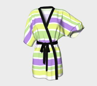 Bright Green Yellow Purple Stripes  preview