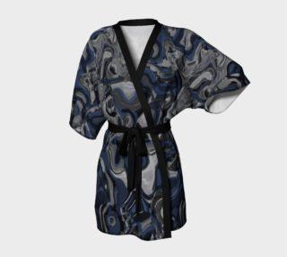 Aperçu de Blue, Gray and White Camo Kimono