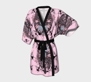 snake and scarab kimono robe pink preview