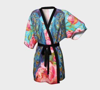 Peacock Floral Fantasy Kimono preview