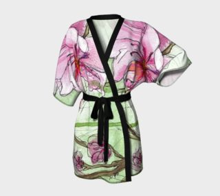 Pink Apricot Blossom Flower Robe preview