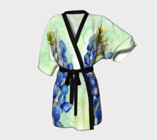 texas Bluebonnet colored pencil robe preview