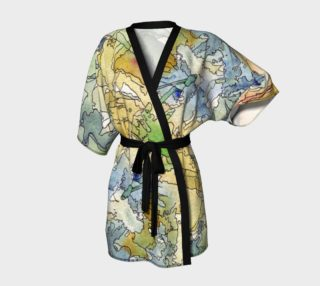 Abstract Mountains Robe preview