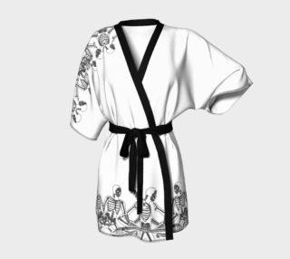 skeletal pattern kimono  preview