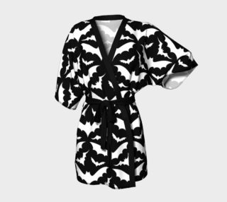 Black and White Bats Kimono Robe preview