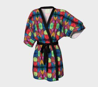 Cross and Flower Mosaic Kimono Robe preview