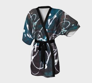 Blue black and white kimono robe preview