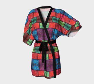 Aperçu de Swirly Mosaic Kimono Robe