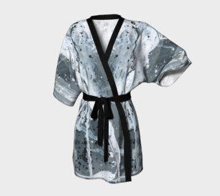 black and white splattered robed kimono preview