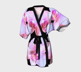 Nighttime Orchids Kimono Robe preview