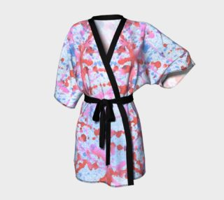 red and blue spatter kimono preview