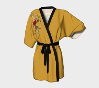 Aperçu de Kimono robe New Orleans Fleur de lis Front-Back Style 3 D-Gold