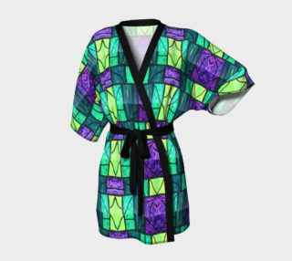 Nouveau Garden Stained Glass Kimono Robe preview