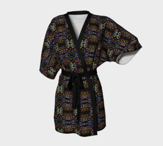 Glowing Tribal Motif Kimono Robe preview