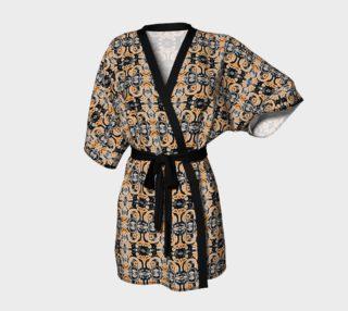Orange Charcoal Kimono Robe preview