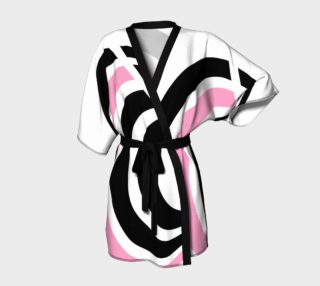 Geo Two Black White Pink Abstract  preview