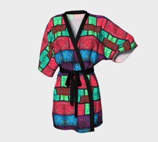 Path Mosaic Kimono Robe preview