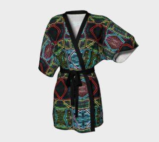 Diamond Sarape Stained Glass Kimono Robe preview