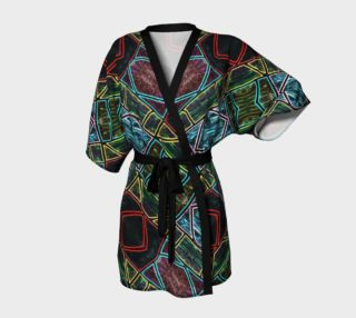Diamond Sarape Stained Glass Kimono Robe II preview
