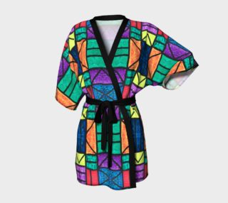 SW Detroit Stained Glass Kimono Robe preview