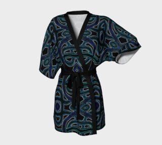 Lapis Lazuli Lattice Kimono Robe preview
