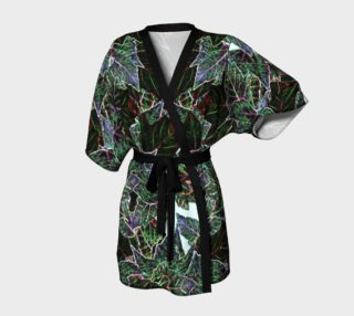 Frosted Autumn Leaves Kimono Robe preview