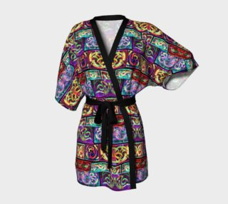 Ionic Damask Stained Glass Kimono Robe preview