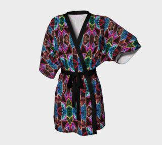 Corinthian Rose Stained Glass Kimono Robe preview