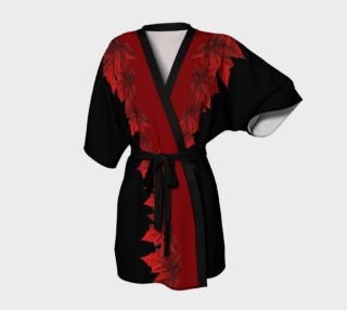 Aperçu de Red Maple Leaf Robes Beautiful Canada Kimono Robes