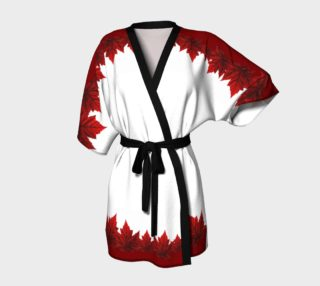 Red Maple Leaf Robes Beautiful Canada Kimono Robes preview