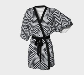 Aperçu de Minimal Geometrical Optical Illusion Style Pattern in Black & White