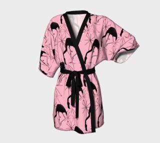 Flamingos Midcentury Modern Atomic Starburst Pattern Pink Black preview